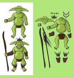 Set goblins v1 goblin shaman vector