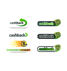 Set of different variants cashback service vector