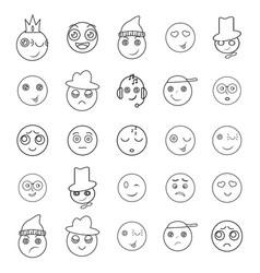 Set of emoji icons friendly fun smile vector