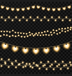 Set of garlands on a transparent background vector