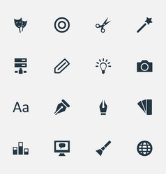 set of simple icon icons vector image