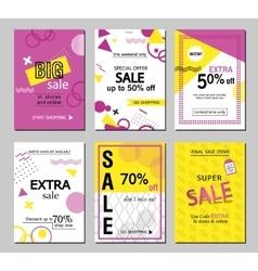 Set of social media sale website and mobile banner vector image