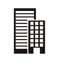 silhouette monochrome with offices buildings vector image