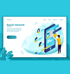 social network profile dating service vector image