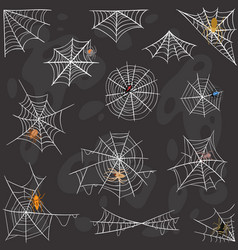 spider halloween celebration decoration web vector image
