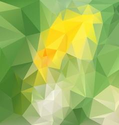 Spring green yellow abstract polygon triangular vector