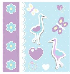 Stork background vector image