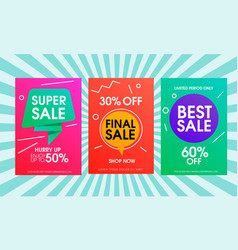 super sale abstract poster template vector image