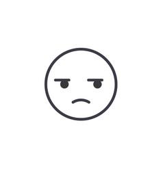 suspicious emoji concept line editable vector image