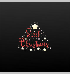 sweet christmas calligraphy for cards posters vector image
