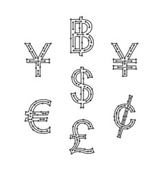 Symbol digital money vector