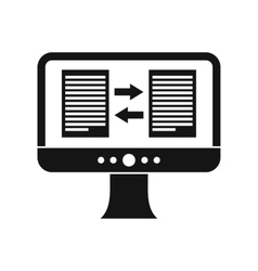 Translator app on the screen of computer icon vector image