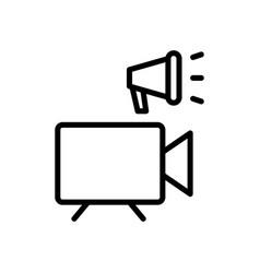 video marketing icon vector image