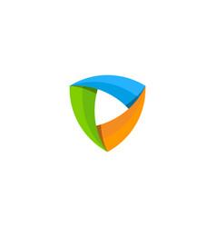 video shield logo icon design vector image
