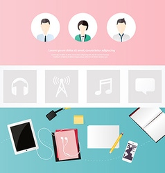 Website design template all in one set for vector