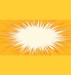 white burst orange background pop art vector image