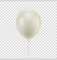 white realistic balloon vector image