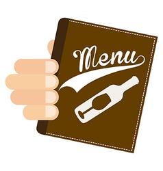 wine menu vector image