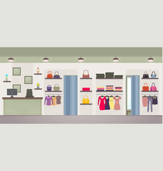 women s clothing store vector image