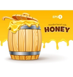 wooden barrel full sweet vector image