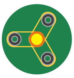 yellow spinner with transparent center vector image