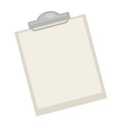 blank pad with paper vector image vector image