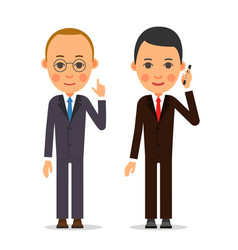 business man businessman stands and lifting his vector image vector image