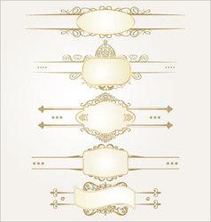 decorative ornate elements vector image vector image