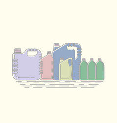 different canisters and vector image