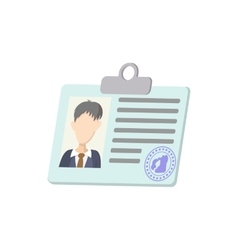 Identification card icon cartoon style vector image