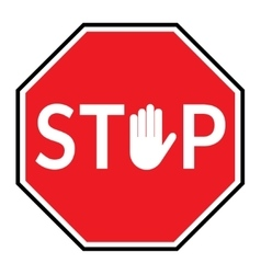 stop sign on white backgroun vector image vector image