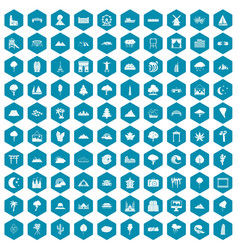 100 view icons sapphirine violet vector image vector image