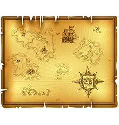 ancient map vector image vector image