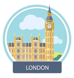 Big Ben and Westminster Bridge London UK vector image