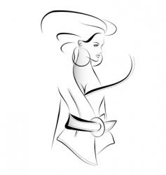 Fashion sketch vector