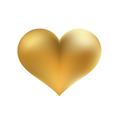 Golden shiny heart shape isolated EPS8 vector image vector image