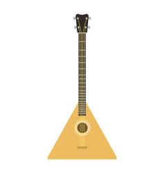 instrument balalaika guitar folk musical vector image