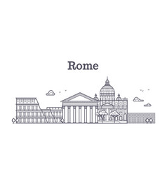 italy rome architecture europe skyline vector image vector image