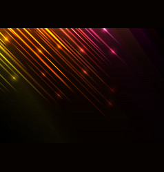 orange speed shower abstract line background vector image vector image