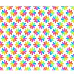 Rainbow Floral Geometric Seamless Pattern vector image