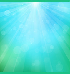 spring or summer background with bokeh lights vector image