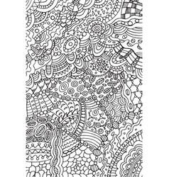 doodle coloring page for adults background vector image vector image