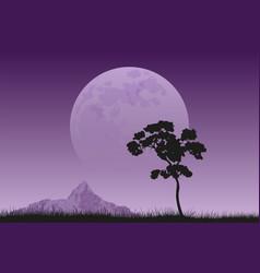 full moon rising vector image