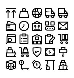 Logistics delivery Colored Icons 8 vector image