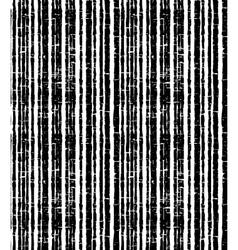Pattern of black grunge stripes Vertical striped vector image