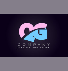 qg alphabet letter join joined letter logo design vector image vector image
