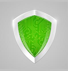 security digital shield concept web security or vector image vector image