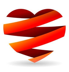 Sliced Red Heart vector image vector image