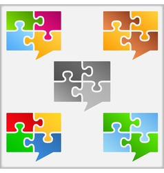 Speech Bubbles Icons vector image vector image