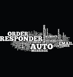 The autoresponder outline text background word vector